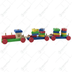 Tren geometric din lemn