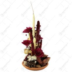 Aranjament cu flori uscate 43 CM