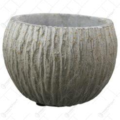 Ghiveci rotund din piatra antichizat 14x11 CM