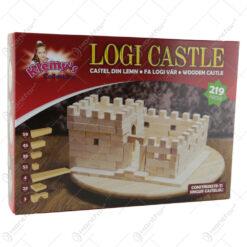Cuburi din lemn Logi Castel