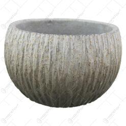 Ghiveci rotund din piatra antichizat 19x12 CM