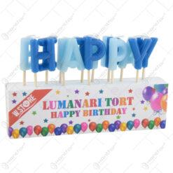 """Litere """"Happy Birthday"""" - Roz/Albastru"""