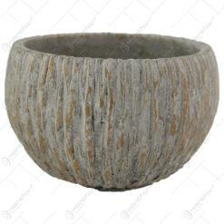 Ghiveci rotund din piatra Cocus 19x12 CM