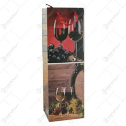 Punga cadou pentru bautura 12×36 - Design Vin rosu/Vin alb
