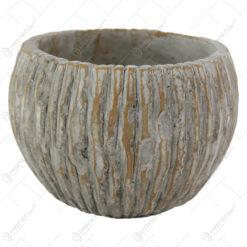 Ghiveci rotund din piatra Cocus 14x11 CM