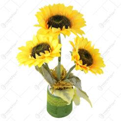 Cana decorativa cu floarea soarelui 14x40 CM