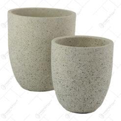 Set 2 ghivece/vaze din piatra 14x16 CM