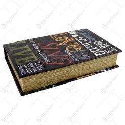 Cutie in forma de carte. diferite marimi - Design cu text (Model 3)