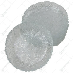 Set 6 farfurii din sticla 12 CM Kig