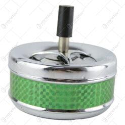 Scrumiera antivant cu buton din metal 11 CM