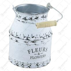 "Cana din metal ""Fleurs & Flowers"" 14 CM"