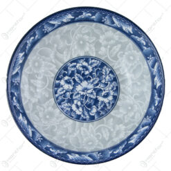Bol albastru din ceramica 18x6 CM