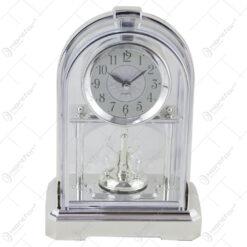 Ceas de masa din plastic 14x23 CM - Auriu/Argintiu