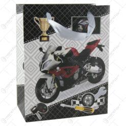 Punga cadou din hartie 18x23 CM - Motocicleta