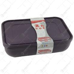 Set 2 cutii pentru depozitare alimente din plastic 3 L/4.5 L