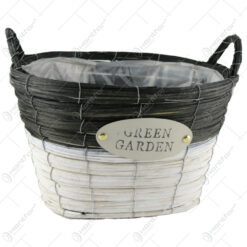"Ghiveci oval din rachita ""Green Garden"" 30x23 CM"