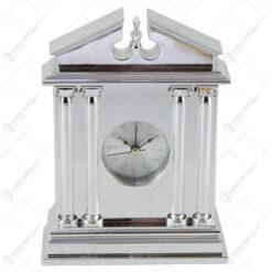 Ceas de masa din plastic 15x20 CM - Argintiu/Auriu
