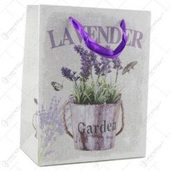 """Punga cadou din hartie 18x23 CM - """"Lavender Garden"""""""