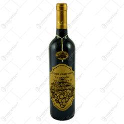 """Vin rosu 0.75l cu eticheta personalizata din pluta - Design """"Viseaza..."""" (Model 2)"""