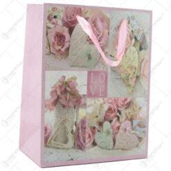 Punga cadou din hartie 18x23 CM - Vintage Love