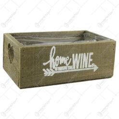 """Lada pentru flori din lemn """"Wine"""" 20x12 CM"""
