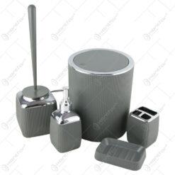Set 5 accesorii pentru baie din plastic Freehome