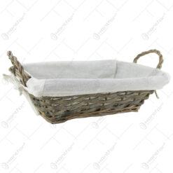 Cos paine din rachita cu husa 31x21 CM