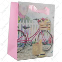 Punga cadou din hartie 18x23 CM - Design bicicleta