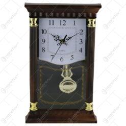 Ceas de perete din plastic cu pendula 34x21 CM - Model 1