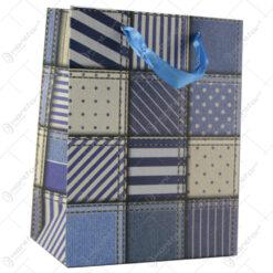 Punga cadou din hartie 18x23 CM - Denim