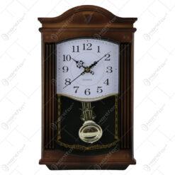 Ceas de perete din plastic cu pendula 34x21 CM - Model 2