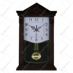 Ceas de perete din plastic cu pendula 34x21 CM - Model 3