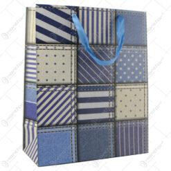 Punga cadou din hartie 26x32 CM - Denim