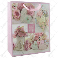 Punga cadou din hartie 26x32 CM - Vintage Love