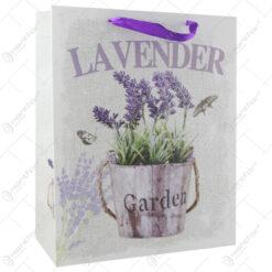 """Punga cadou din hartie 26x32 CM - """"Lavender Garden"""""""