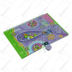 Agenda cu lacat Wishes 15x22 CM - Design cu flori