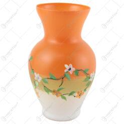 Vaza din sticla 20 CM - Design floral