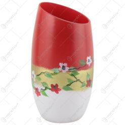 Vaza din sticla 19 CM - Design floral