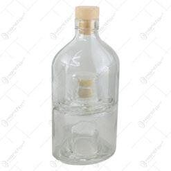 Sticla pentru bauturi Dubla cu dop