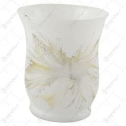 Vaza din sticla 9 cm - Design Fantezia Gri
