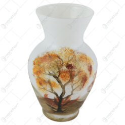 Vaza din sticla 20 CM - Peisaj de toamna