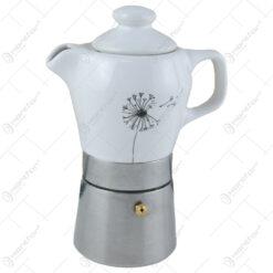 Presso cafea din portelan pentru 2 persoane
