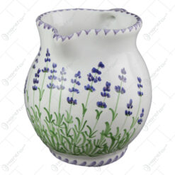 Carafa din ceramica pictata manual 1 L - Lavanda