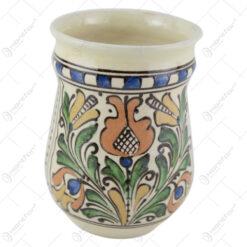 Suport facalet din ceramica de Corund cu motive traditionale 14 CM