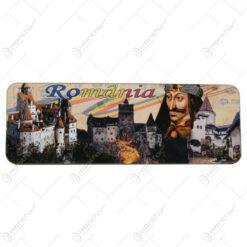 Magnet frigider Romania 13x4 CM