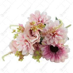 Buchet artificial Trandafir cu Gerbera 44 CM