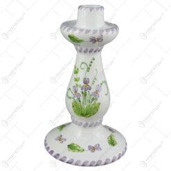 Sfesnic din ceramica pictata manual 20 CM - Violete