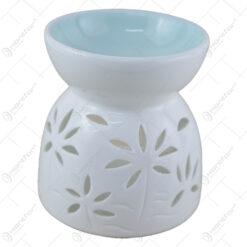 Candela aromaterapie din ceramica cu flori 10 CM