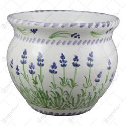 Ghiveci din ceramica pictata manual 15 CM - Lavanda