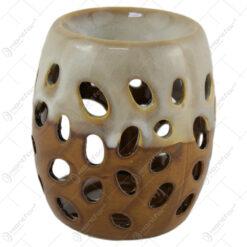 Candela aromaterapie din ceramica cu gauri